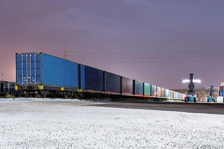 Krovinių pervežimas geležinkeliu